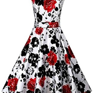 ACEVOG-Vintage-1950s-Floral-Spring-Garden-Party-Picnic-Dress-Party-Cocktail-Dress-0