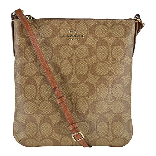 Coach-CC-Signature-NS-Cross-Body-File-Shoulder-Bag-Purse-0
