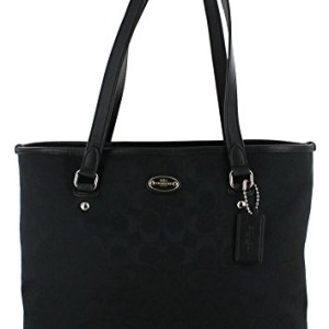 Coach-Signature-Zip-Top-F36375-Shoulder-Tote-Bag-Purse-0