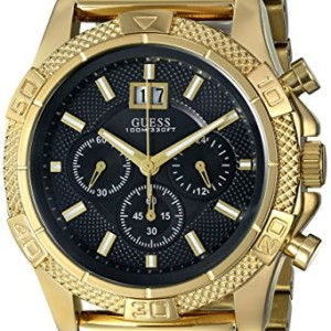 GUESS-Mens-U0205G1-Mesh-Gold-Tone-Chronograph-Watch-0