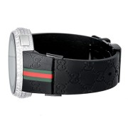 Mens-Diamond-I-Gucci-Digital-Stainless-Steel-Rubber-Band-Swiss-Watch-0-1