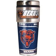 NFL-Metallic-Travel-Tumbler-Stainless-Steel-and-Black-Vinyl-16-Ounce-0-0