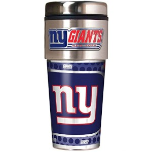 NFL-Metallic-Travel-Tumbler-Stainless-Steel-and-Black-Vinyl-16-Ounce-0