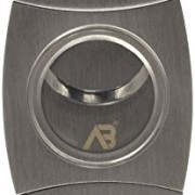 Alaska-Bear-Cigar-Cutter-Stainless-Steel-Guillotine-Double-Cut-Blade-in-Black-Gift-Pouch-0-0