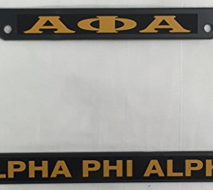 Alpha-Phi-Alpha-Black-Plastic-License-Plate-Frame-0