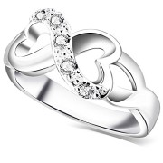 BOHG-Jewelry-Womens-925-Sterling-Silver-Plated-Cubic-Zirconia-CZ-Heart-Infinity-Symbol-Ring-Wedding-Band-0-0