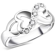 BOHG-Jewelry-Womens-925-Sterling-Silver-Plated-Cubic-Zirconia-CZ-Heart-Infinity-Symbol-Ring-Wedding-Band-0-1