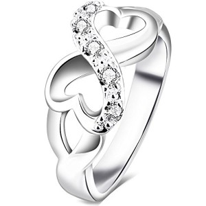 BOHG-Jewelry-Womens-925-Sterling-Silver-Plated-Cubic-Zirconia-CZ-Heart-Infinity-Symbol-Ring-Wedding-Band-0