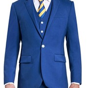 HBDesign-Mens-3-piece-1-Button-Notch-Lapel-Trim-Fit-Casual-Flat-Suite-0-0
