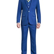 HBDesign-Mens-3-piece-1-Button-Notch-Lapel-Trim-Fit-Casual-Flat-Suite-0