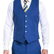 HBDesign-Mens-3-piece-1-Button-Notch-Lapel-Trim-Fit-Casual-Flat-Suite-0-2