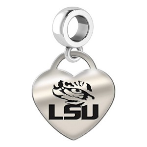 LSU-Tigers-Heart-Dangle-Charm-Fits-All-European-Style-Bead-Charm-Bracelets-0