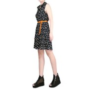 MAKIYO-Womens-Cat-Footprints-Sleeveless-Lapel-Collar-skirt-Casual-Dress-0-1