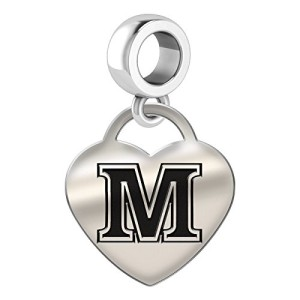 Maine-Black-Bears-Heart-Drop-Charm-Fits-All-European-Style-Bracelets-0