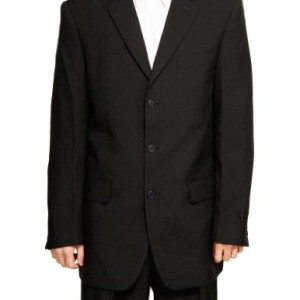 New-Mens-3-Button-Single-Breasted-Black-Dress-Suit-0