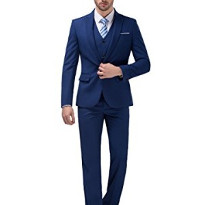 POSHAWN-Mens-Slim-Fit-Peak-Lapel-Three-Piece-Suit-Set-0