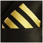 Paul-Malone-Necktie-Pocket-Square-and-Cufflinks-100-Silk-Gold-Black-Stripes-0-3