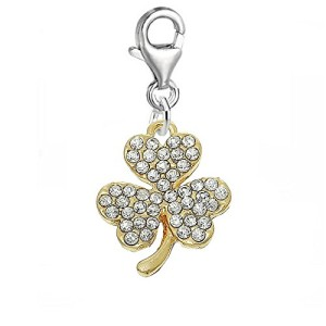 Three-Leaf-Clover-Clip-on-Pendant-for-European-Charm-Jewelry-w-Lobster-Clasp-0