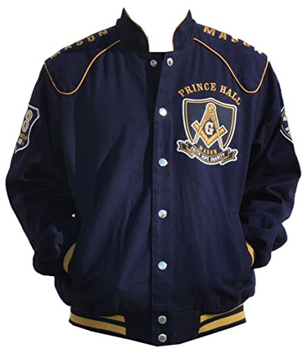 Masons-Prince-Hall-Mens-Twill-Jacket-Navy-BlueGold-0